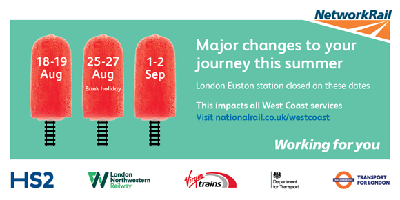 Euston closure: DO NOT TRAVEL on West Coast main line this bank holiday weekend