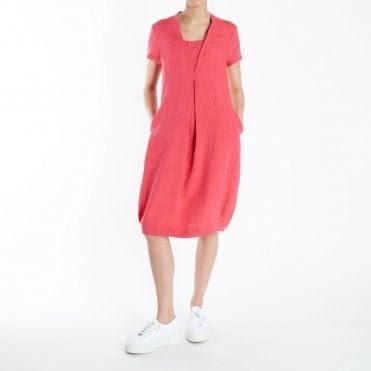 Veneta Midi Dress in Raspberry