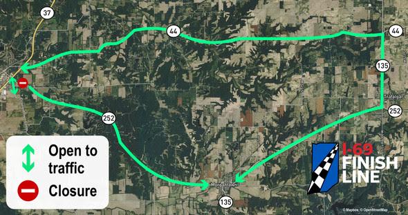 State Road 252 detour map