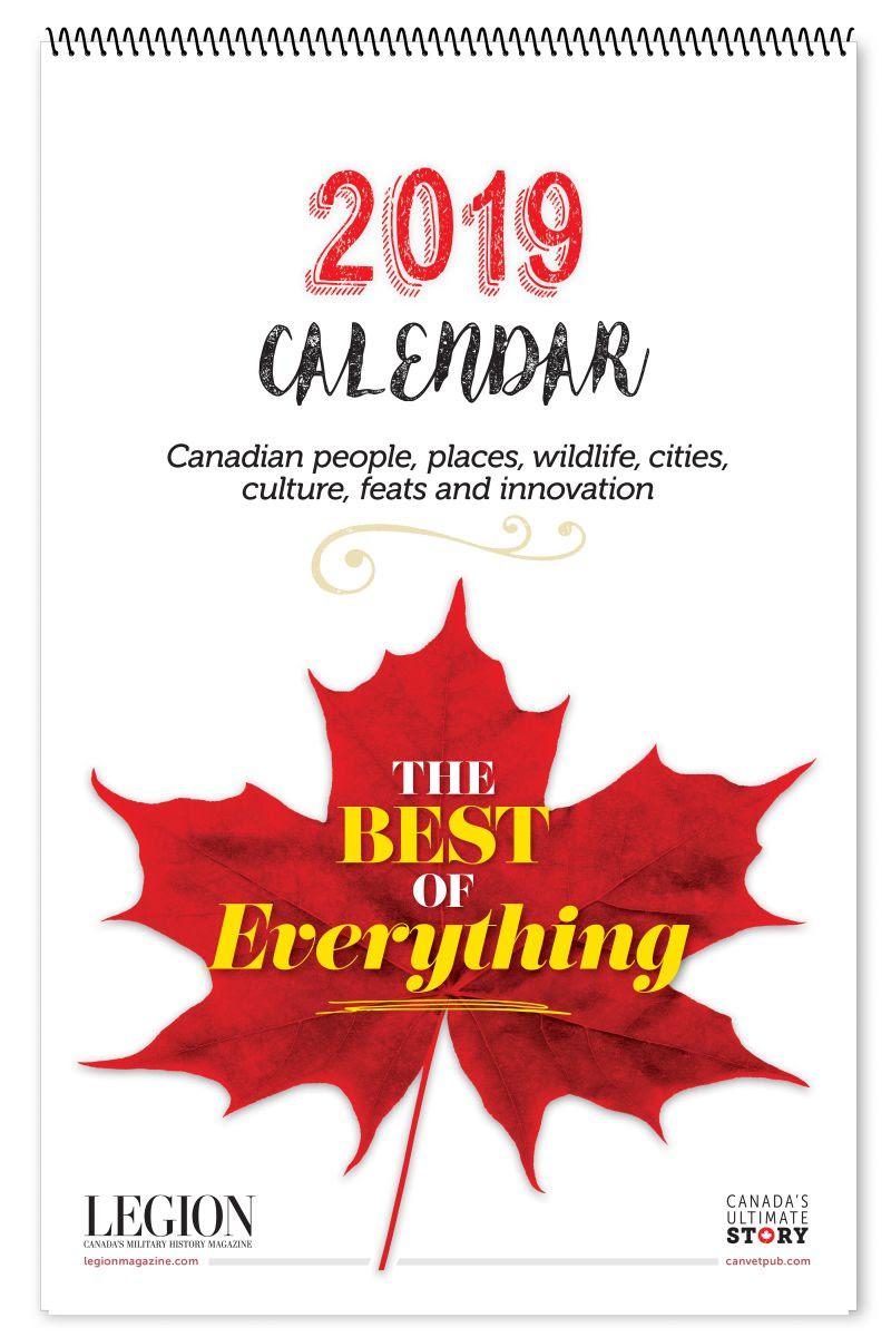 2019 O Canada Calendar