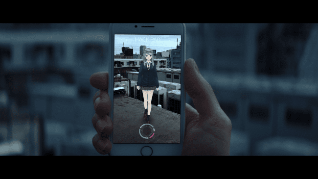 【イメージ画像4.】3DサラがARで登場・・・!サラと協力して謎を解き明かせ!