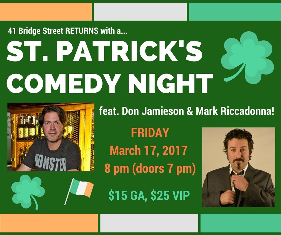 St Paddy s Comedy 2017