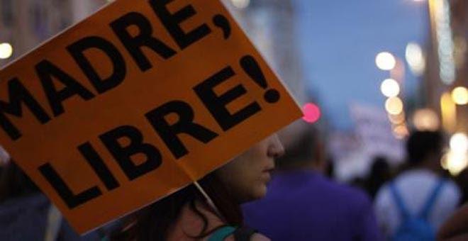 Manifestación en Madrid en contra de la contrarreforma del aborto. Archivo. JAIRO VARGAS