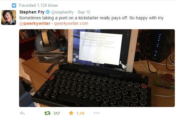Mr. Fry has 11.5M followers on Twitter and almost crashed our servers!