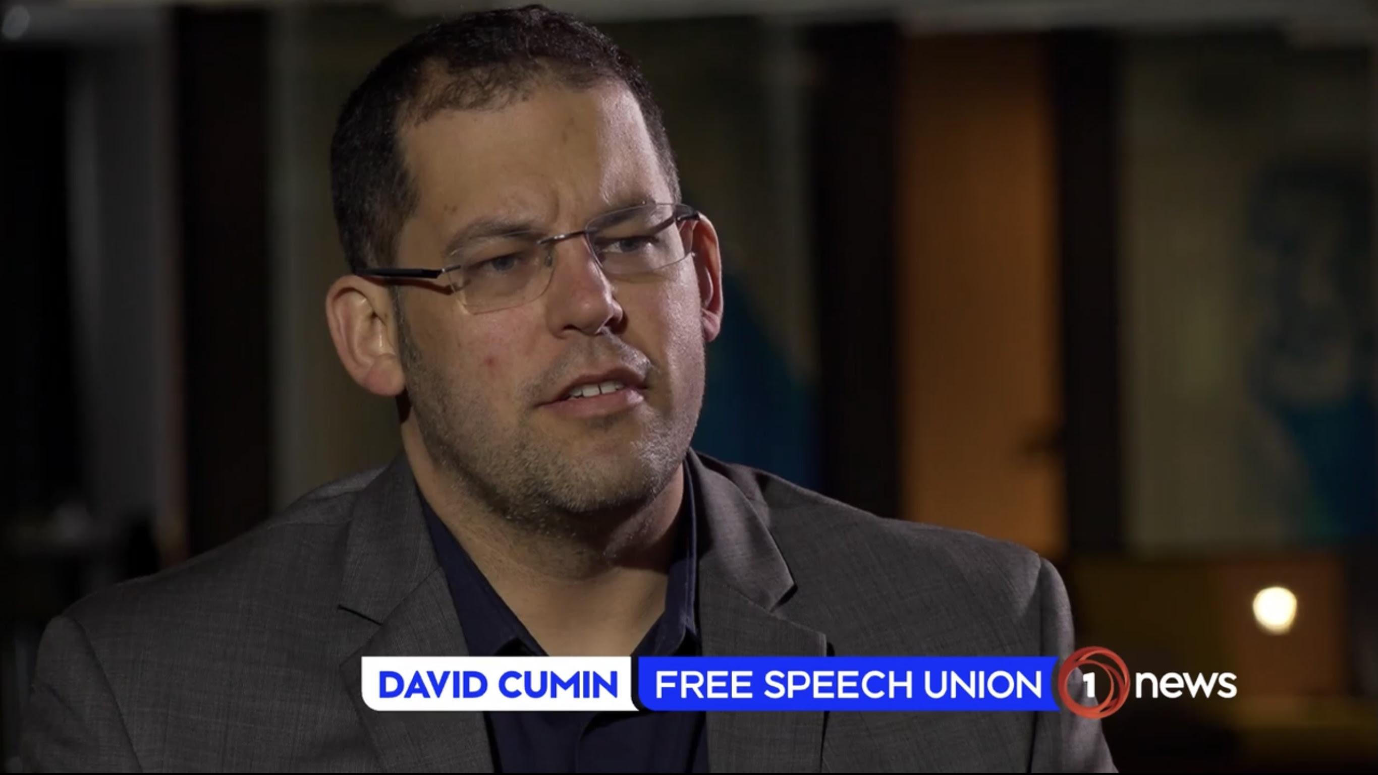 David Cumin on 1 News