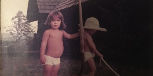 I must be about 2 years old in this picture. This was taken in Arkansas near Dyer.
