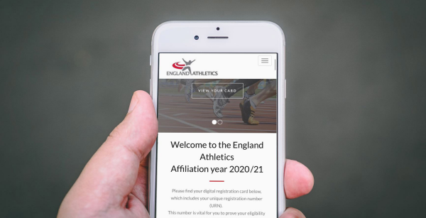 England Athletics mobile phone image