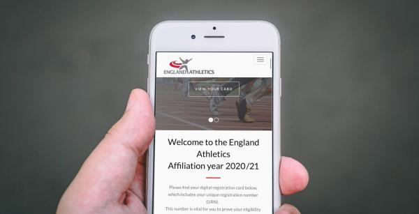 England Athletics mobile phone image