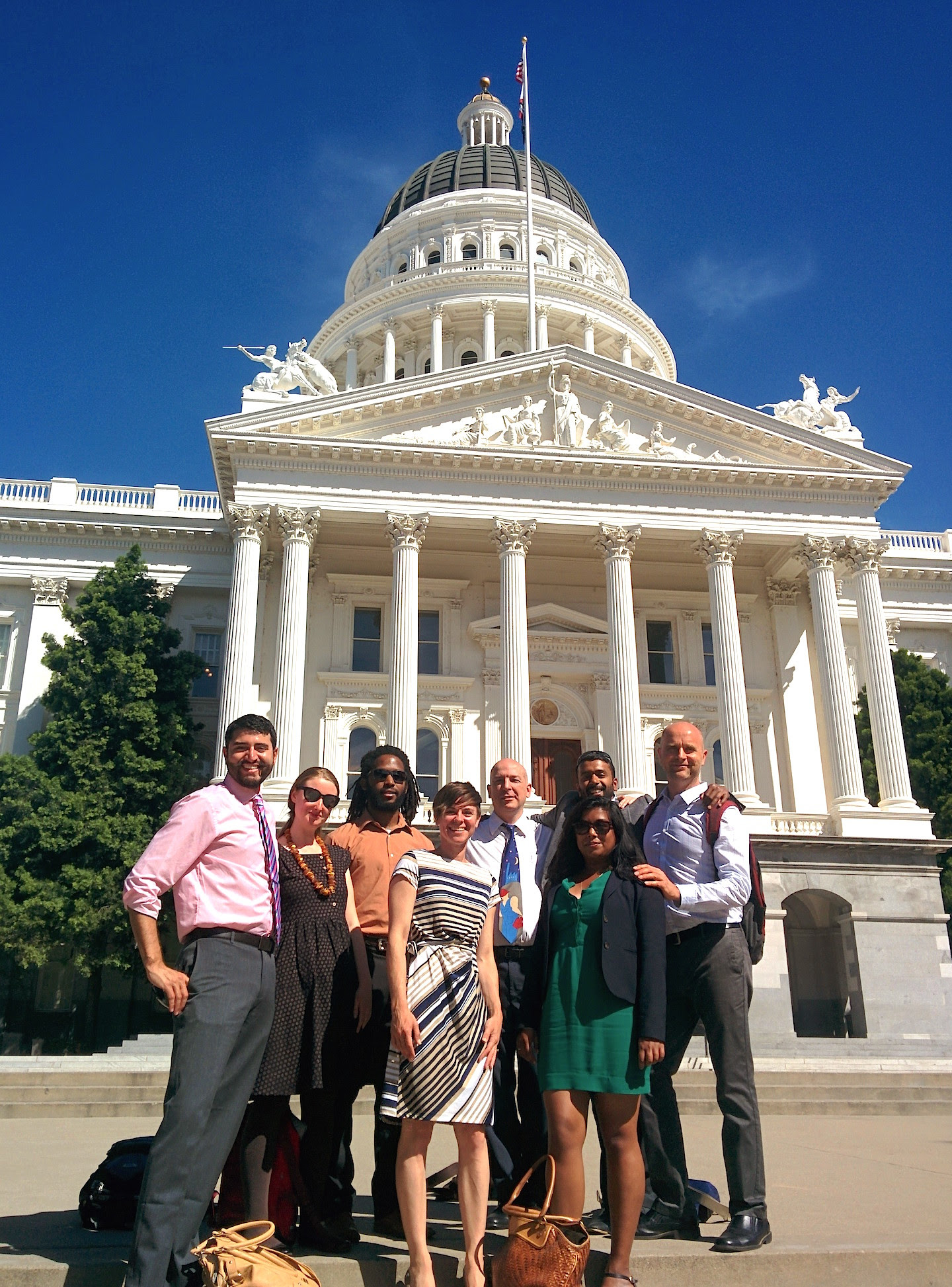 Part of the team that attended committee hearings in Sacramentoto advocate for workplace democracy!