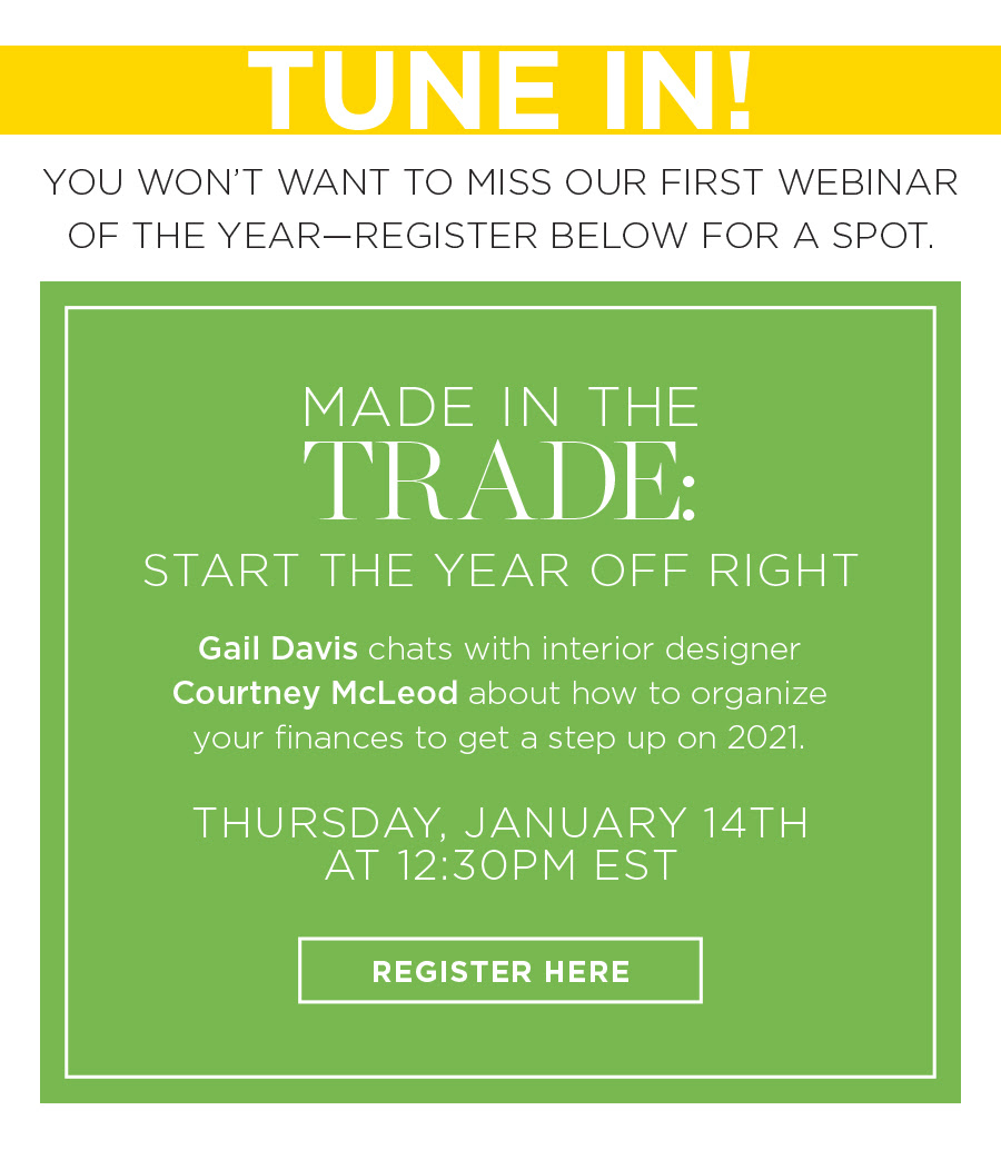 Tune in! You won't want to miss our first webinar of the year--Register here: http://go.fschumacher.com/WBN-2021-01-14-Made-In-The-Trade-Finance2.0_LP-Registration.html?utm_source=SD