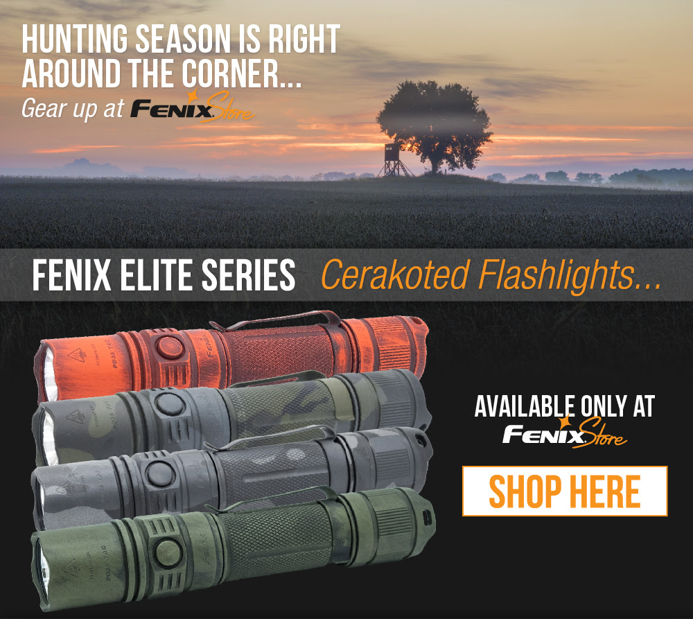 Fenix Store Elite Series - Cerakote Flashlights