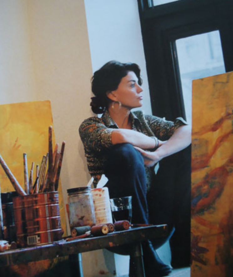Sylvia Martins in her studio