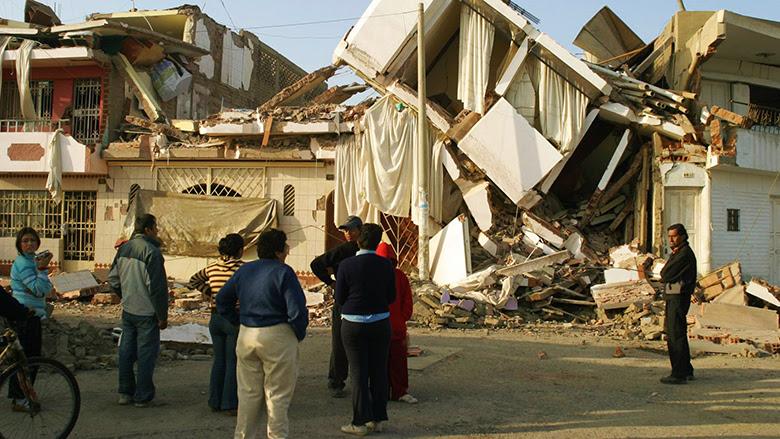 Edificios dañados en Pisco, Perú. © XAVIER CONESA / Banco Mundial
