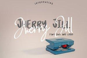 Jherry Jill | Font Duo + 6 Logos