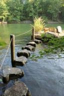Stepping Stones on Lake