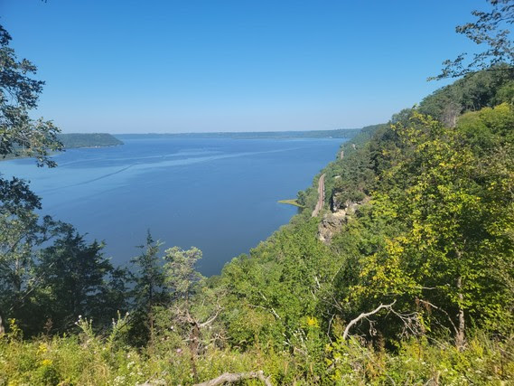 View from Maiden Rock Bluff overlooking the Mississippi River