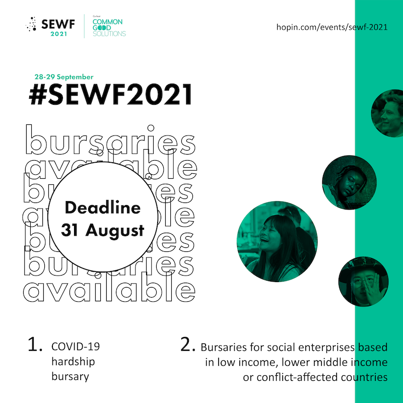 Apply for a bursary ticket on or before 31 August