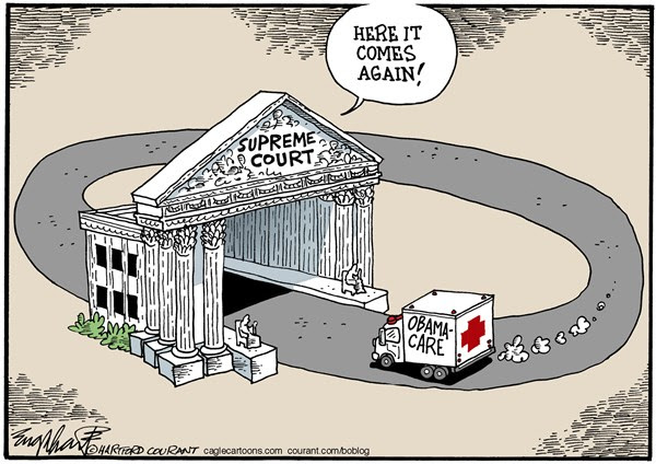 Obamacare Supreme Court © Bob Englehart,The Hartford Courant,Obamacare,Supreme Court,SCOTUS,healthcare,health insurance, appeals court