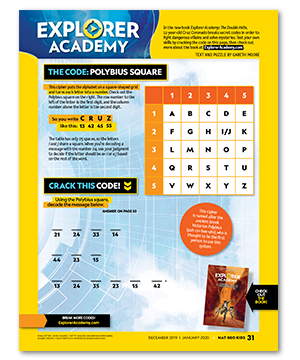 Image of a puzzle to show an example of secret codes for kids to solve.