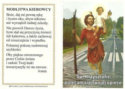 Znalezione obrazy dla zapytania modlitwa do sw. krzysztofa