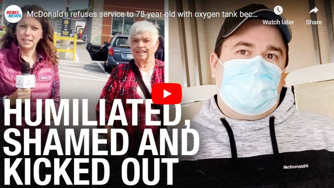 McDonald's restaurant refuses service to 78-year-old with oxygen  tank