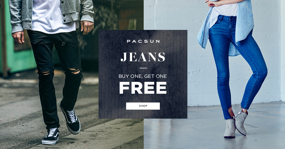 BOGO FREE Jeans at PacSun...