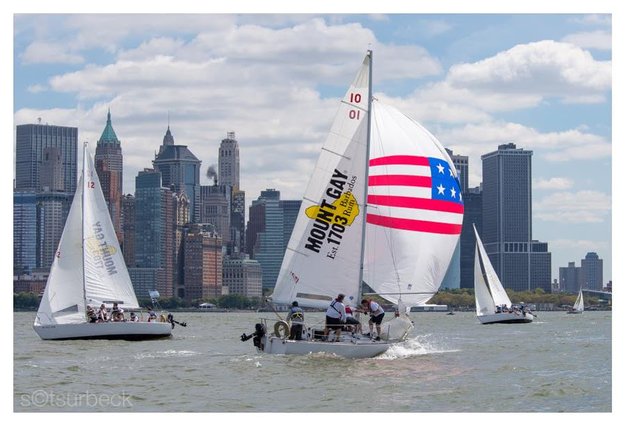 J/24s sailing off New York waterfront