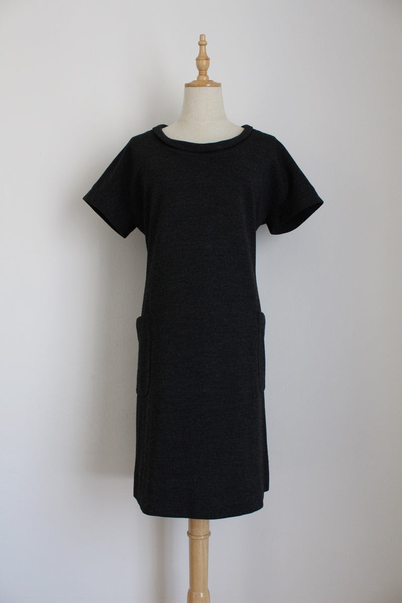 GERARD DAREL DESIGNER WOOL DRESS - SIZE 16