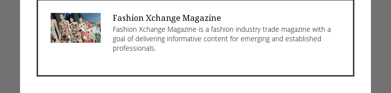 Fashion Xchange Magazine