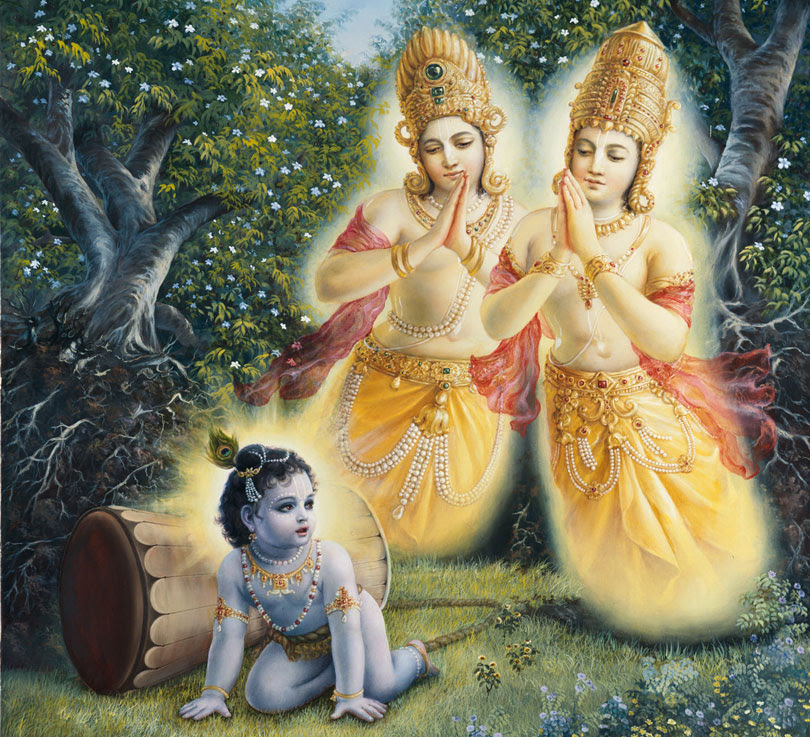 Nala--Kuvera-being-liberated-by-Lord-Krishna