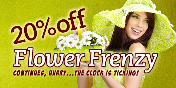 Save 20% OFF Flower Frenzy at ReadyFlowers.com.au