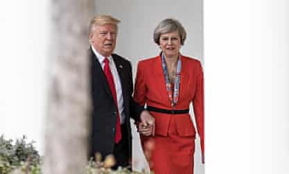 How Donald Trump's hand-holding led to panicky call home by Theresa May