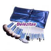 Kit 22 Pincéis com Estojo Azul