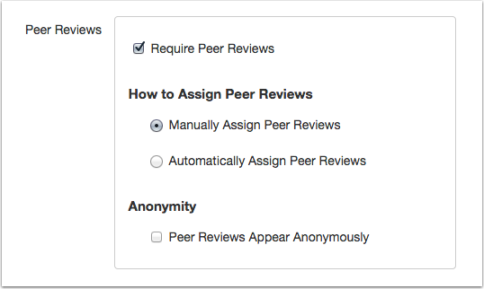 peer review anonymity options