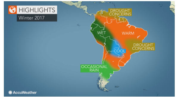 2017 South America Winter highlights winter