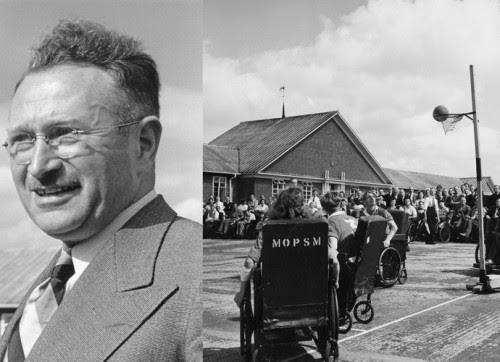 O neurologista Ludwig Guttmann, especializado em lesões na coluna, foi o pioneiro das competições em cadeira de rodas
