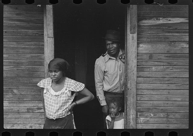 Liberty, unincorporated, Scotts Run, West Virginia. Negro family living in Moose Hall