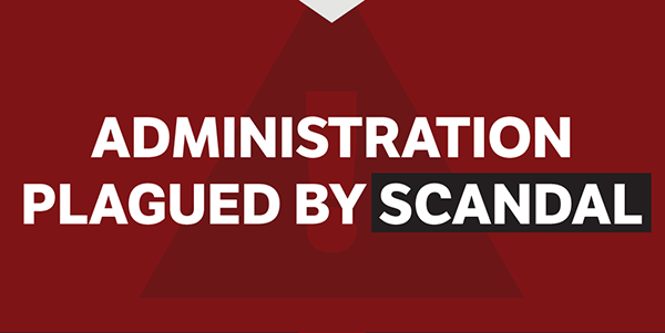 Administration Plagued in Scandal