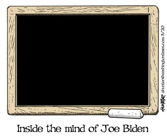 inside mind of joe biden chalkboard