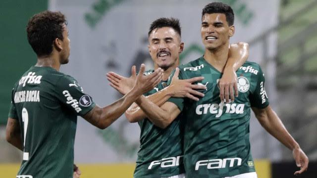 Palmeiras goleia Del Valle e se mantém 100% na Libertadores