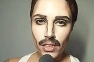 The Dubsmash app allows users to create lip-syncing videos. This screenshot is from a video by a makeup artist, Raquel Laranjo, lip-syncing a Queen song sung by Freddie Mercury.