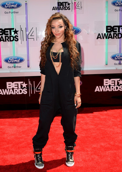 Singer Tinashe attends the BET AWARDS '14 at Nokia Theatre L.A. LIVE on June 29, 2014 in Los Angeles, California.