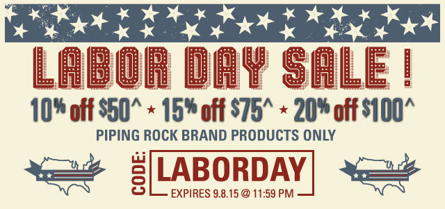 Piping Rock Labor Day Sale