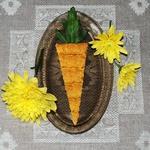 """Полезные коржики """"Морковки"""" к завтраку"""