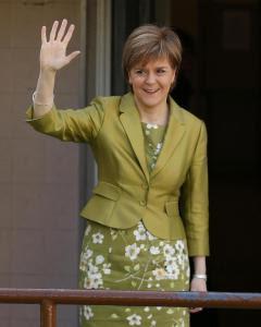 Nicola Sturgeon, la líder del Partido Nacional Escocés. - REUTERS