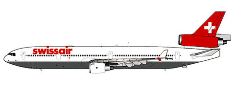 MD-11 Swissair HB-IWE (with stand) | is due: August 2019