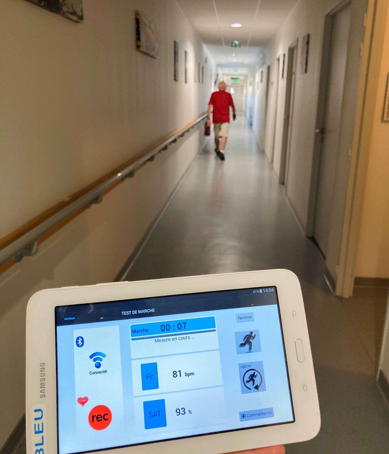 Ejercicios de rehabilitación de un paciente.