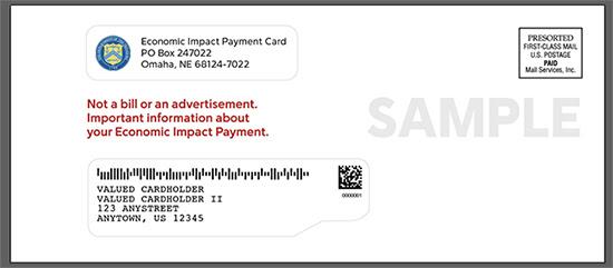 Ejemplo de sobre de tarjeta EIP