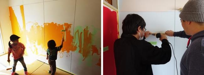 2017年2月に実施した第1弾DIY体験イベントin香里三井C団地(大阪府寝屋川市)の様子