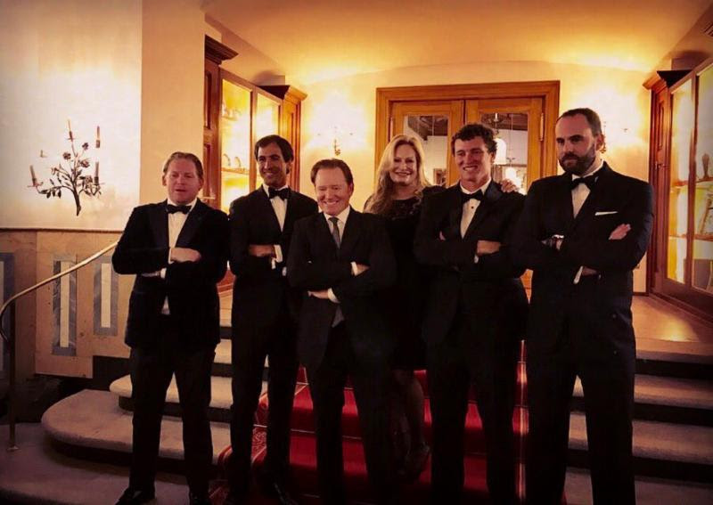 Badrutt's Palace Hotel team members at the event's annual gala.